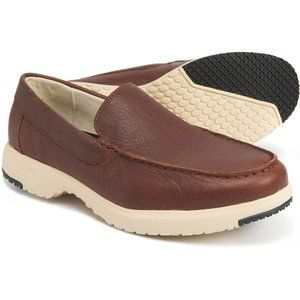 Baffin NIB Rust Leather Kauai Slip-On Loafers
